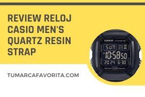 Review reloj Casio Men's Quartz Resin Strap